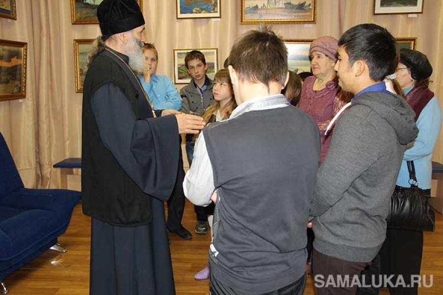 Встреча школьников с отцом Павлом